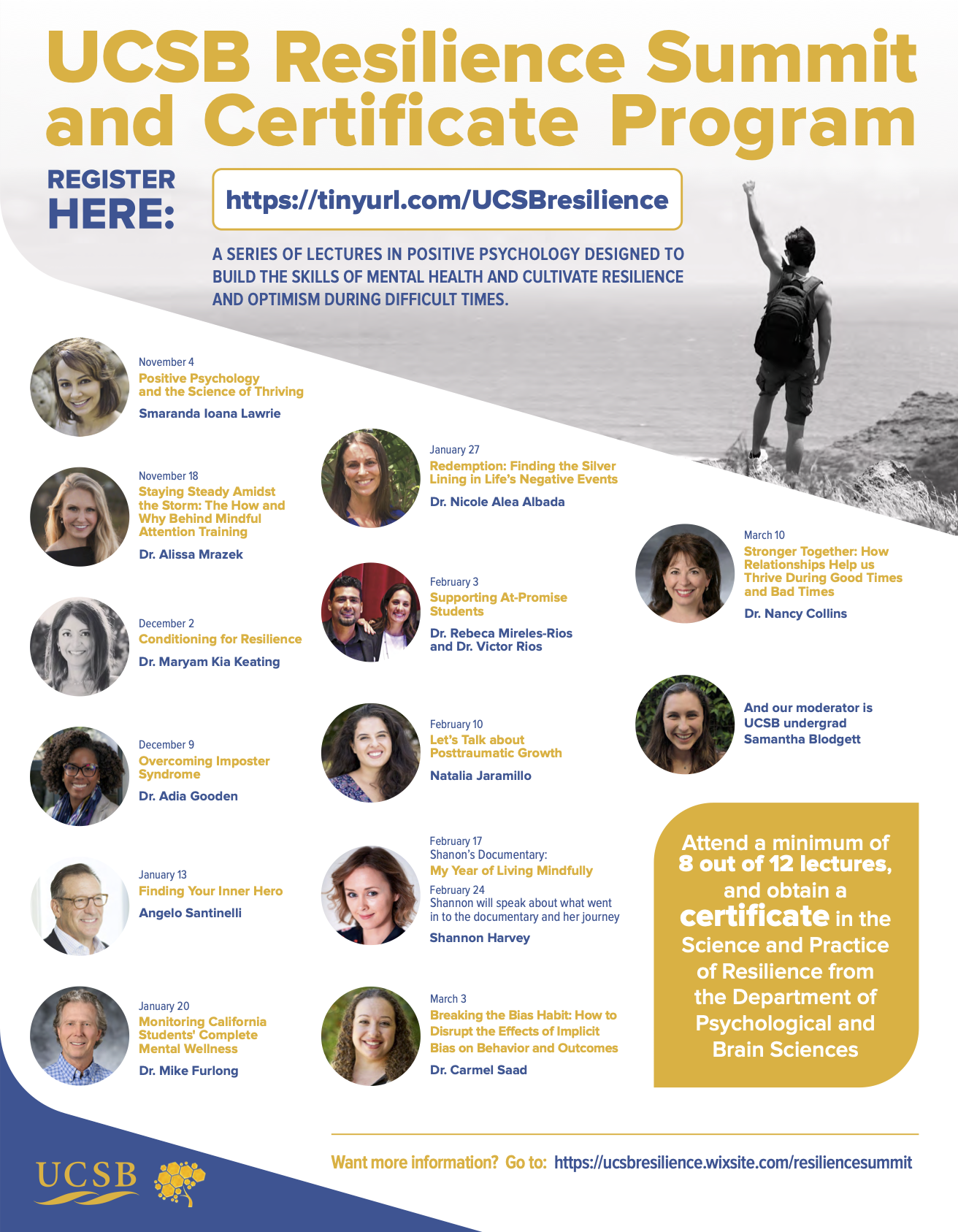 UCSB Resilience Summit and Certificate Program